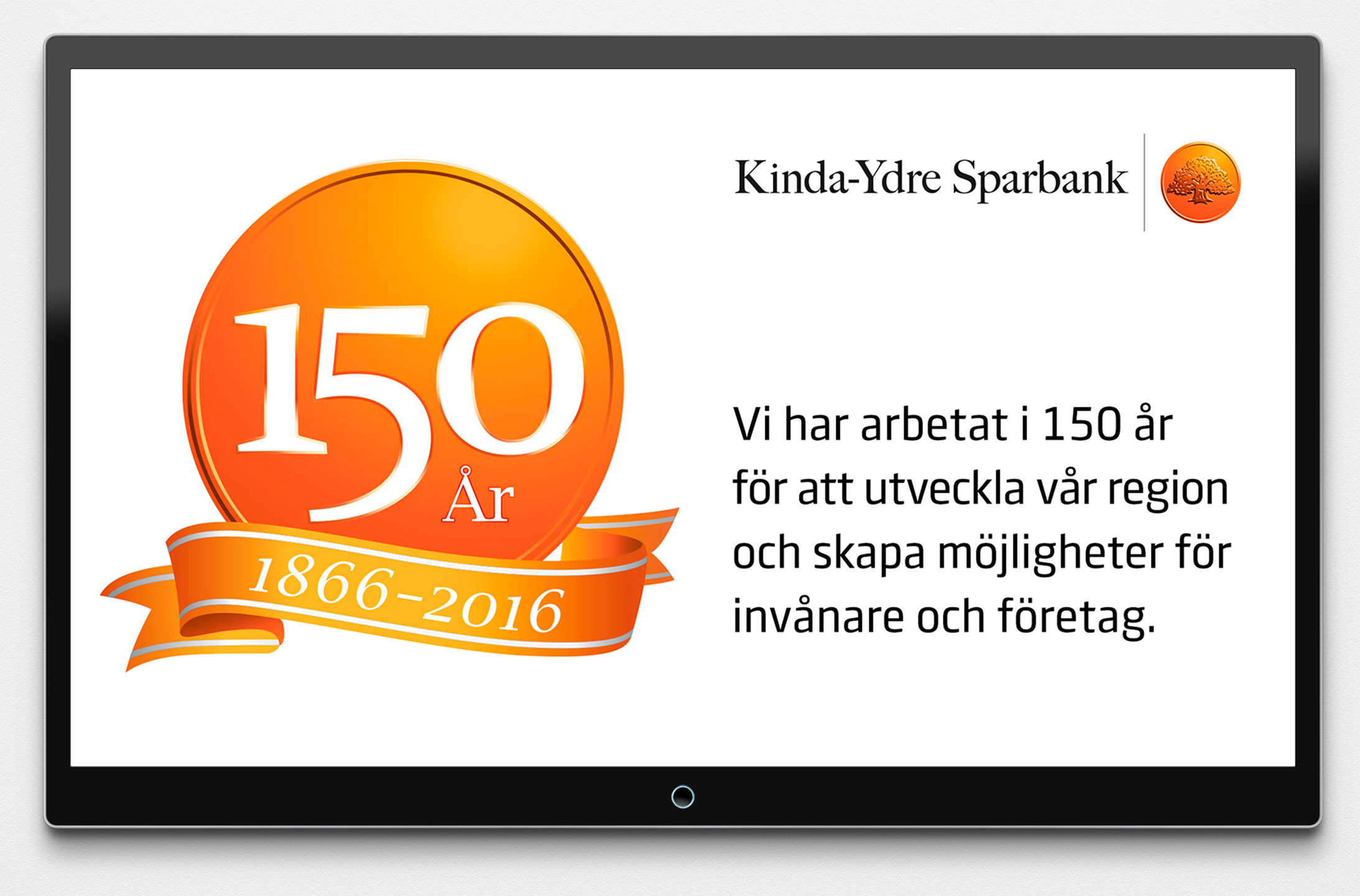 Kinda Ydre Sparbank 150 år - TV