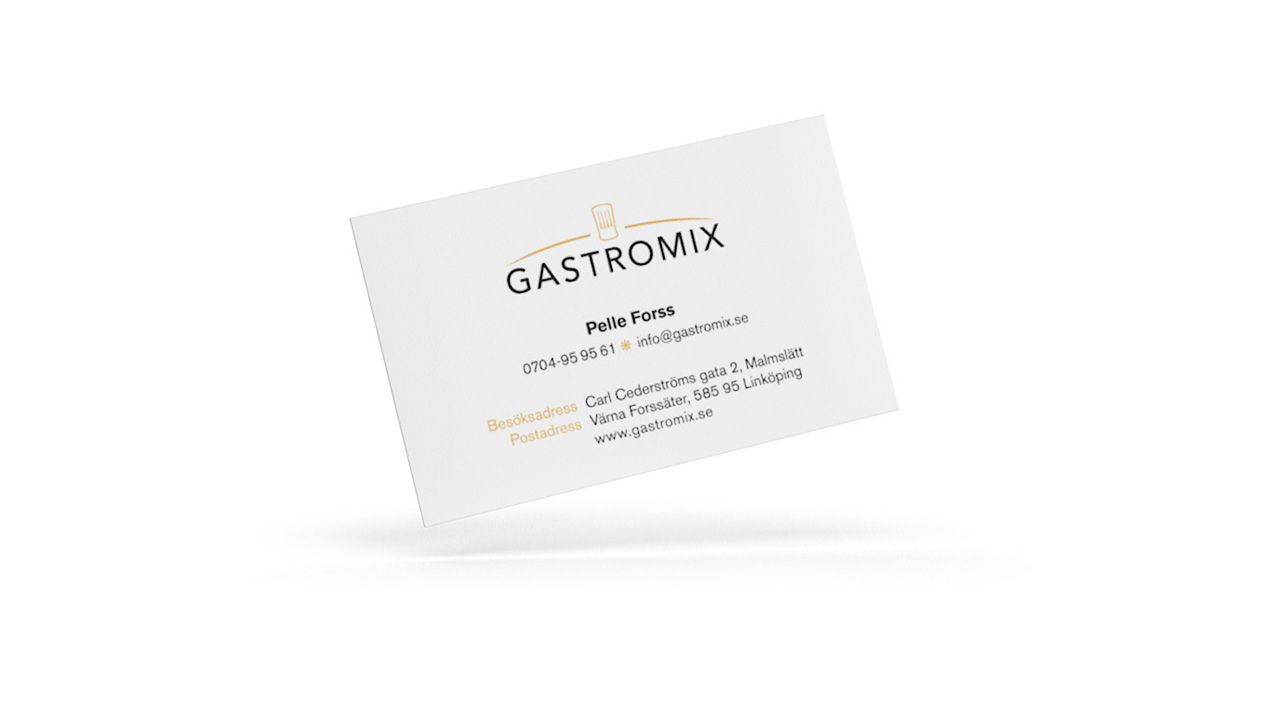 Gastromix - Visitkort